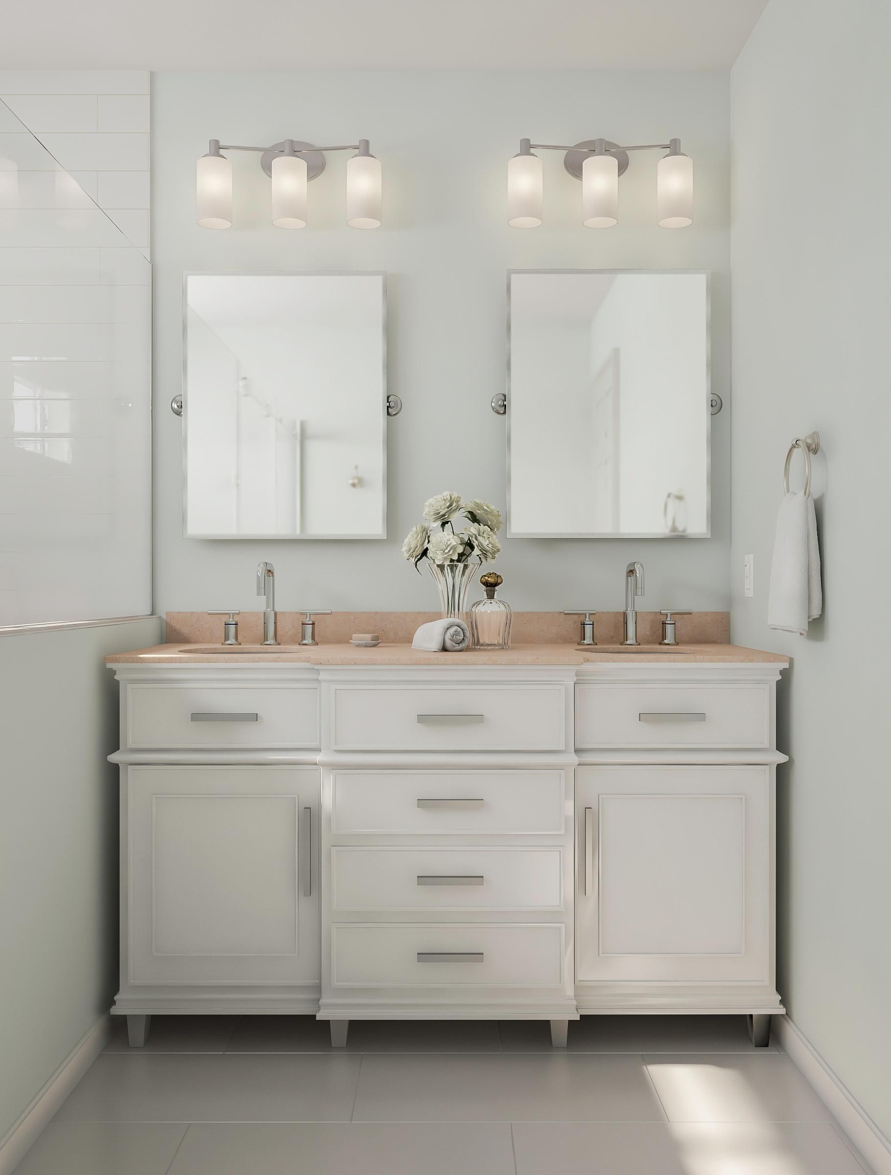 Most Popular Small Bathroom Remodel Ideas On A Budget In 2018 This Beautiful Look Was Created With Custom Bathroom Bathrooms Remodel Modern Farmhouse Bathroom