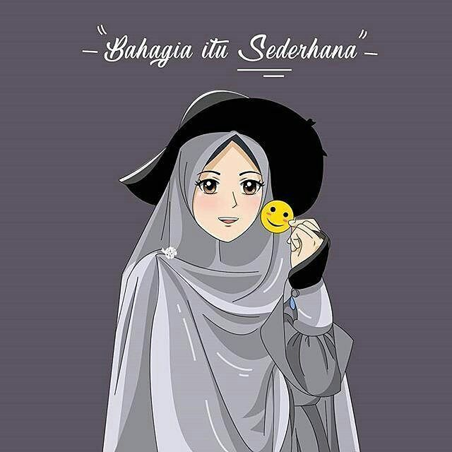 Gambar muslimah cantik Terlengkap menangis Muslimah Kartun ...