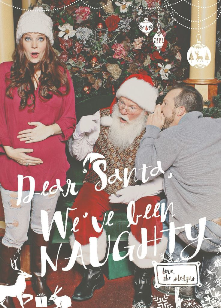 Christmas baby announcement idea with Santa – Cute Christmas Baby Announcements