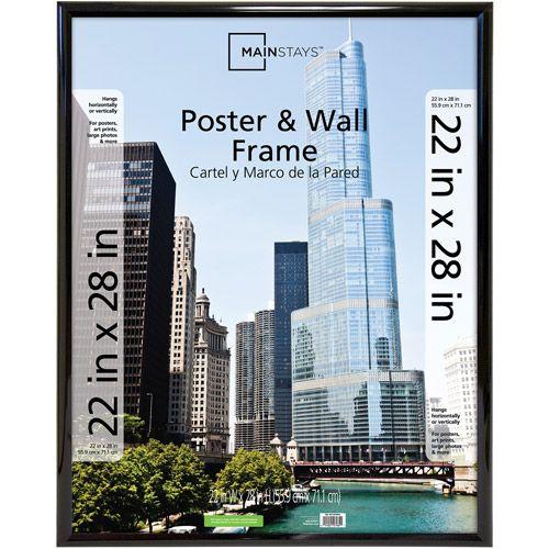 mainstays trendsetter 22 x 28 black poster frame - walmart.com | for ...