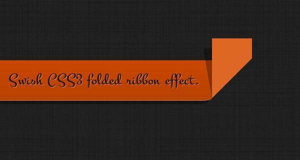 Create a Swish CSS3 Folded Ribbon in Five Minutes | Webdesigntuts+ #tutorial #web
