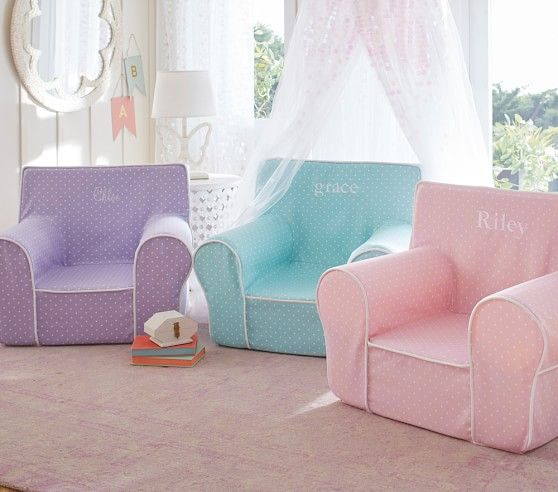 Light Pink Pin Dot My First Anywhere Chair® | Pottery Barn Kids