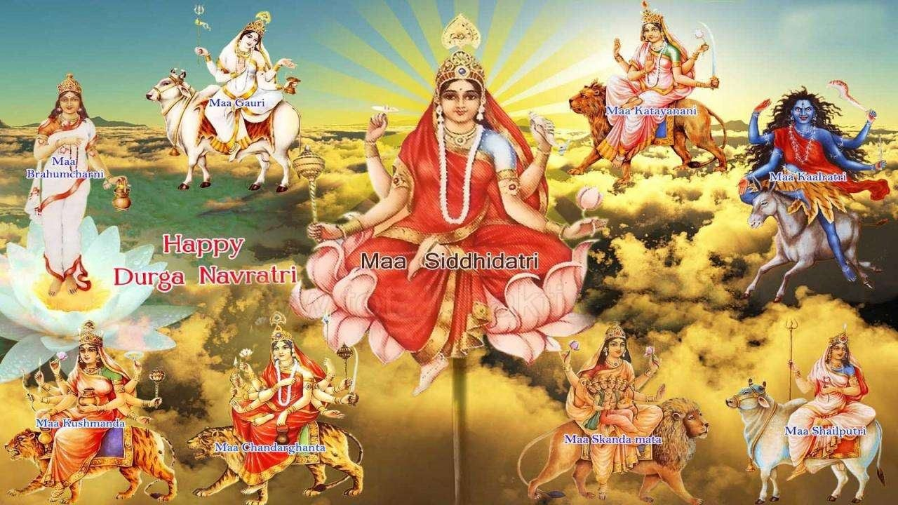 Maa Nav Durga 4k Wallpaper Happy Navratri Happy Dasara Wallpapers Durga