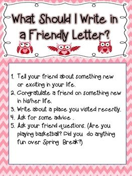 How To Write A Friendly Letter Valentines Day Theme Wonderful