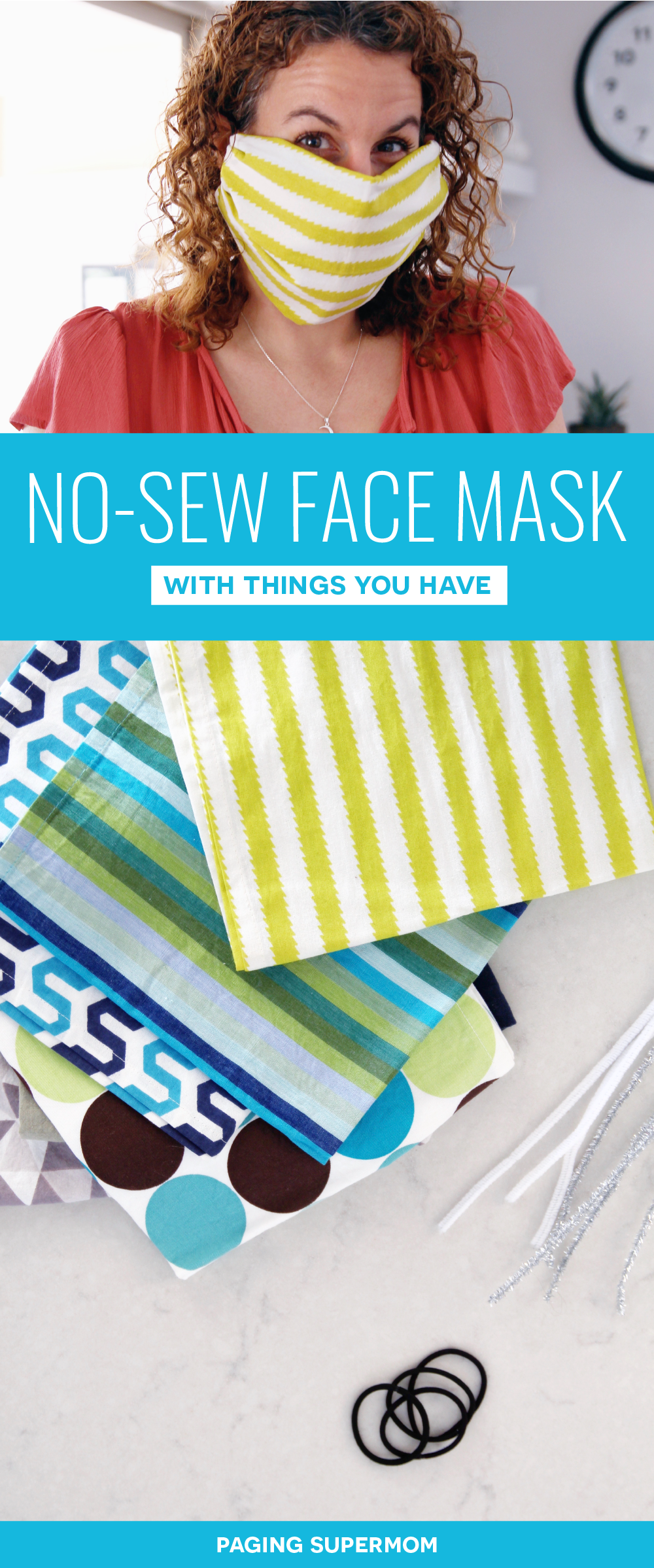 DIY Face Mask How to Make a Face Mask With No Sewing