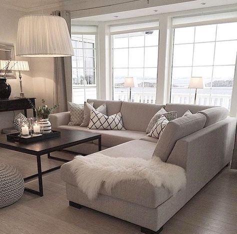 17+ Super Ideen für Apartment Wohnzimmer Dekor Beige Couch