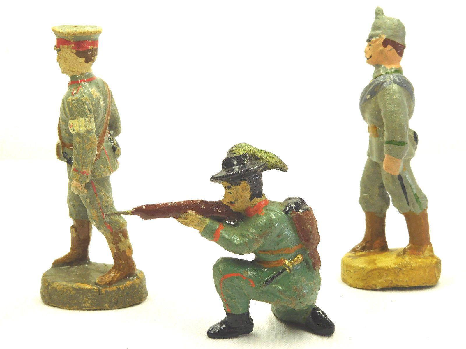 6 Militär Masse Figuren 4 davon Elastolin Figuren Höhe ca. 6,5-10,5 cm /795   eBay
