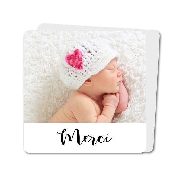 Carte de remerciements de naissance Naissance Magnifique