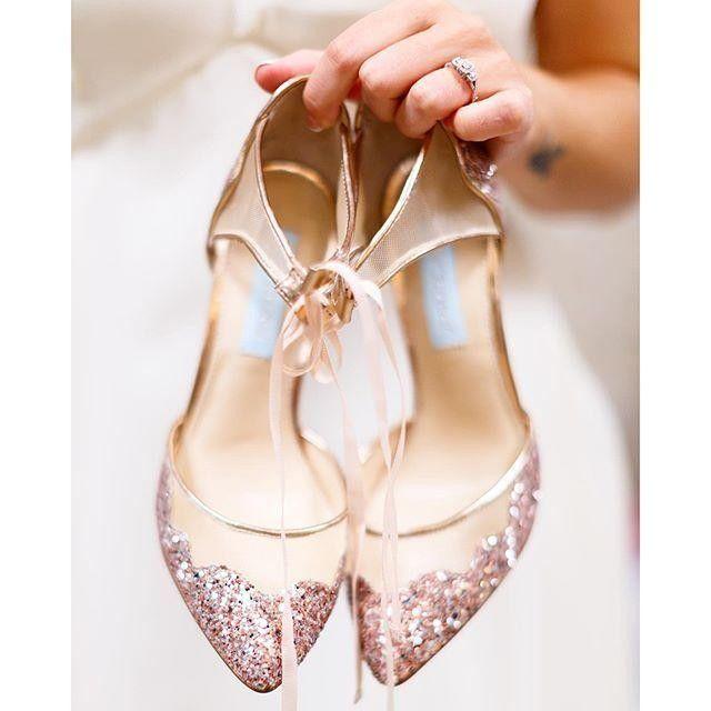 Betsey Johnson Sb Stella Perfection Wedding Heels Sparkly
