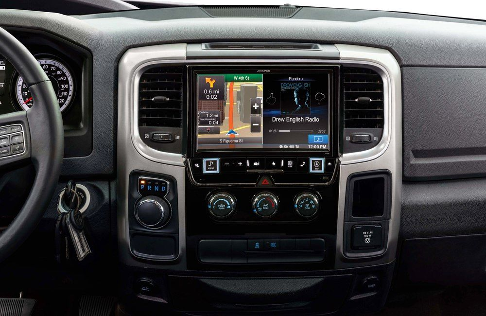 Alpine X009 Ram In Dash Restyle System Navigation Receiver Custom Fit Replacement Radio With 9 Screen For Select 2013 Up Ram Trucks At Crutchfield Ram Trucks Ram Trucks 1500 Dodge Truck Accessories