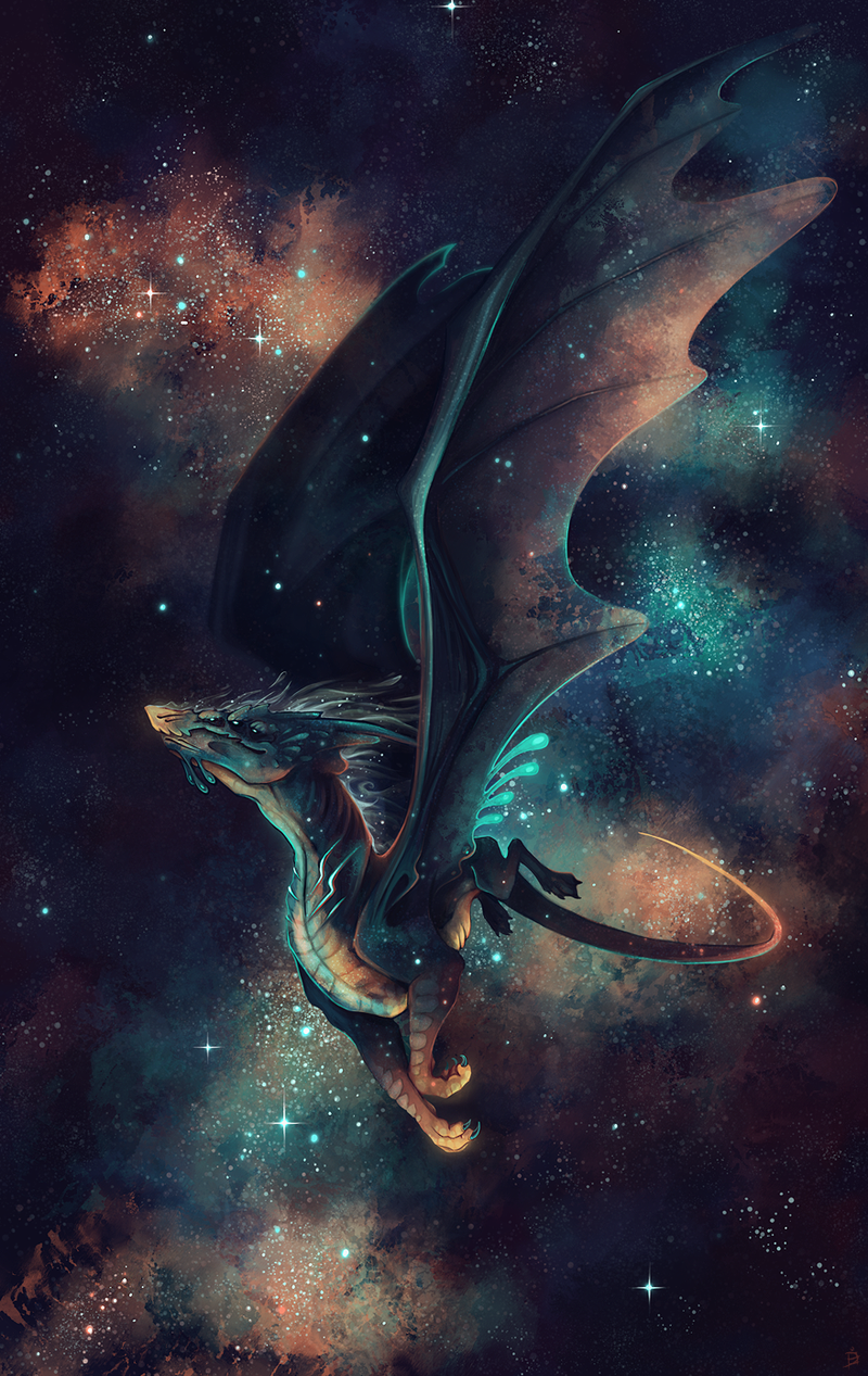 Cosmic Kanizo Deviantart Dragons Dragon Art Space