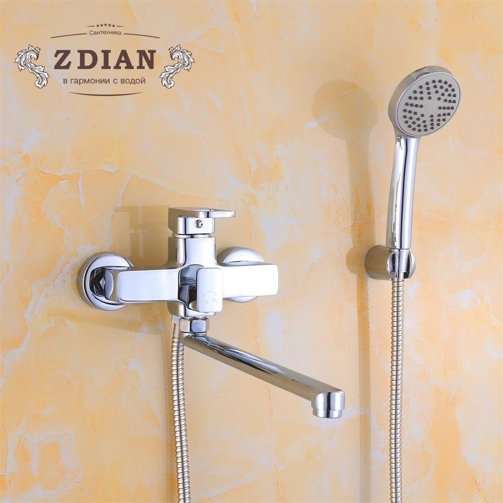 Bathtub Faucets Chrome Single Handle Hot And Cold Water Tap Shower