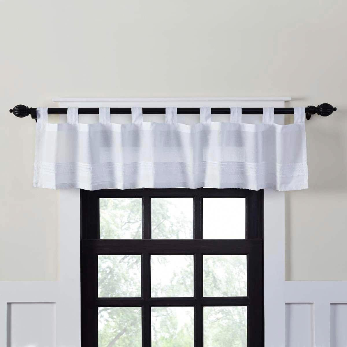 Curtains Can Decorate Either Your Window Or Your View White Valance Farmhouse Kitchen Curtains White Farmhouse Kitchens