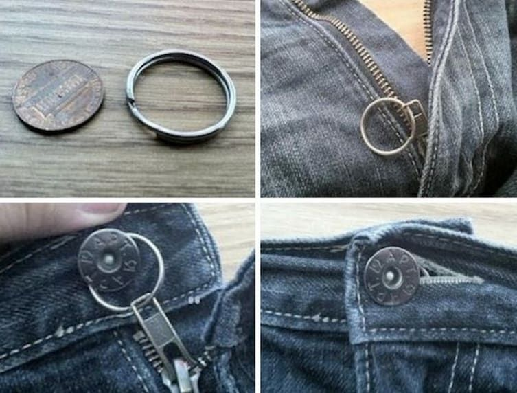 Diply clothing hacks fix a zipper sewing hacks