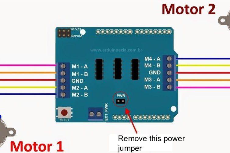 28BYJ-48 Stepper Motor + Arduino + L293D Motor Shield +