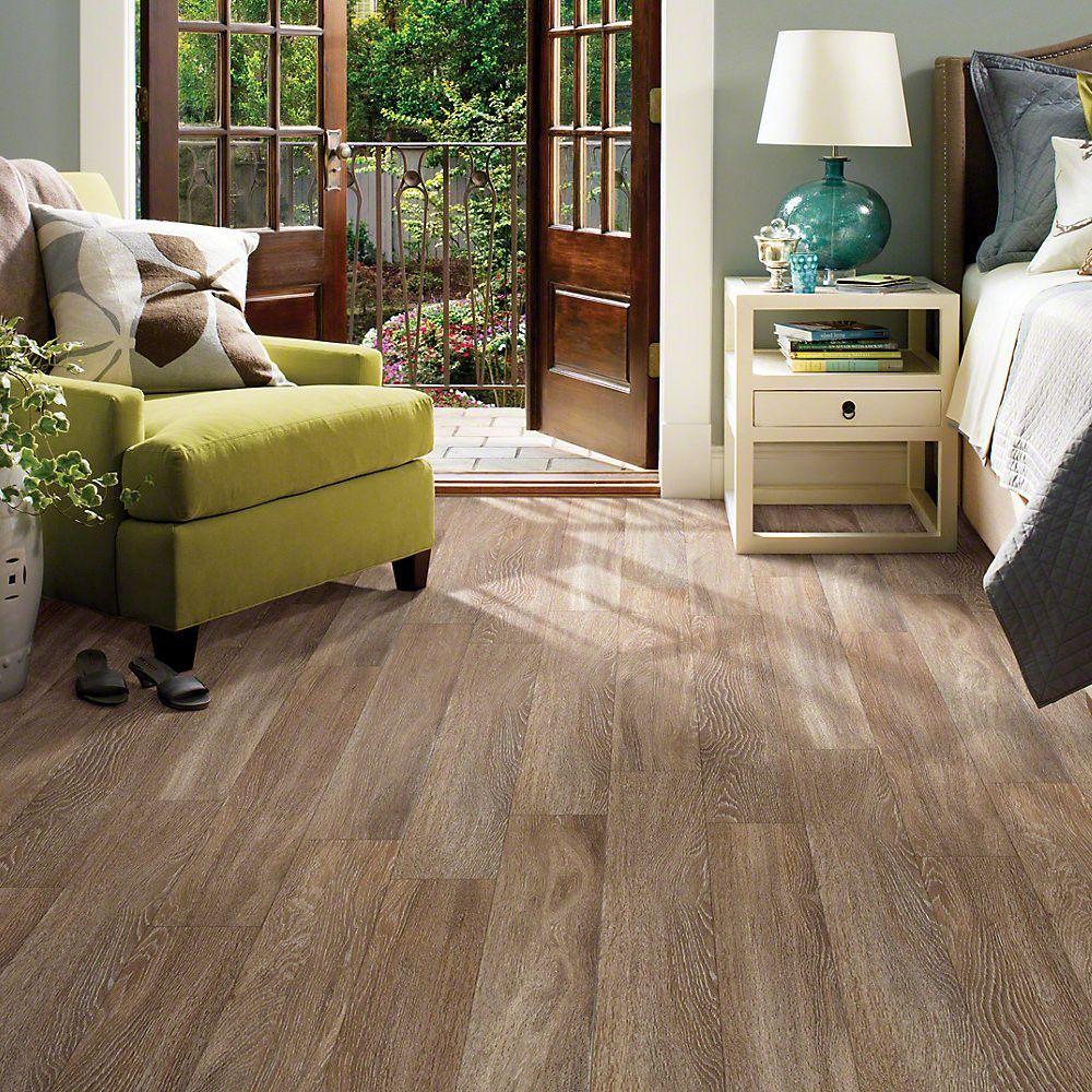 "Shaw Floors Luxury Vinyl Plank in ""Chestnut"" MUCH better"