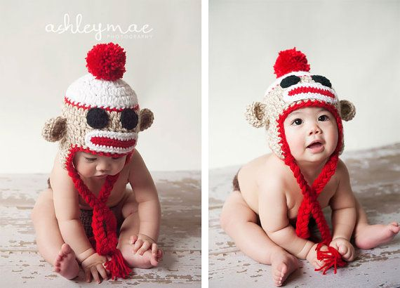 Sock Monkey Hat Crochet Pattern In 5 Different By Sweetkiwicrochet