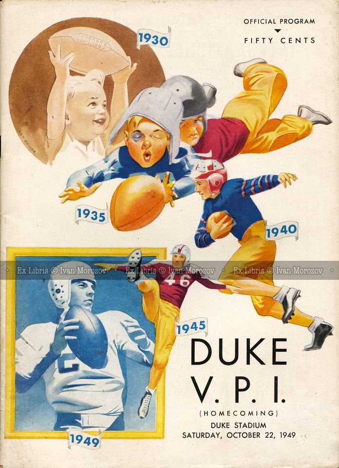 1949.10.22. Virginia Tech (Hokies) at Duke University