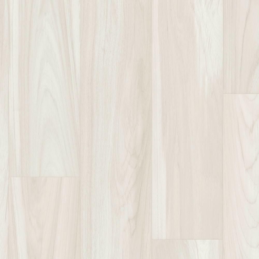 Wintered Wood Plank Vinyl Sheet - 6 in. x 9 in. Take Home Sample, Winter White Oak With Urethane Wear Layer