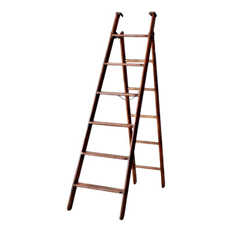 Antique Wooden Folding Ladder Folding Ladder Ladder How To Antique Wood