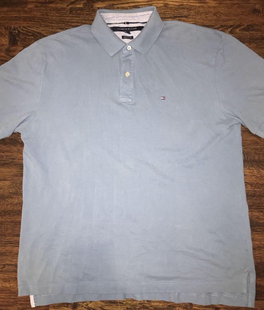 8baf8197 Tommy Hilfiger Mens Size XL Blue Polo Shirt Flag Logo | eBay New ...