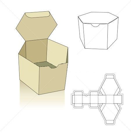 Polygon Box Template  Hledat Googlem  Boxes Ideas Templates