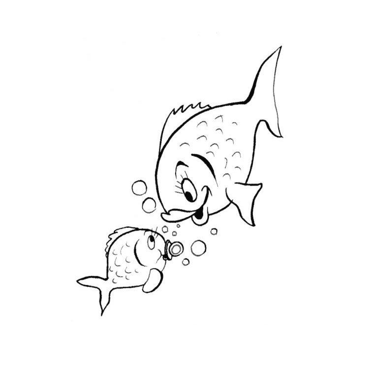 Coloriage poisson de mer a imprimer gratuit coloring - Croquis poisson ...