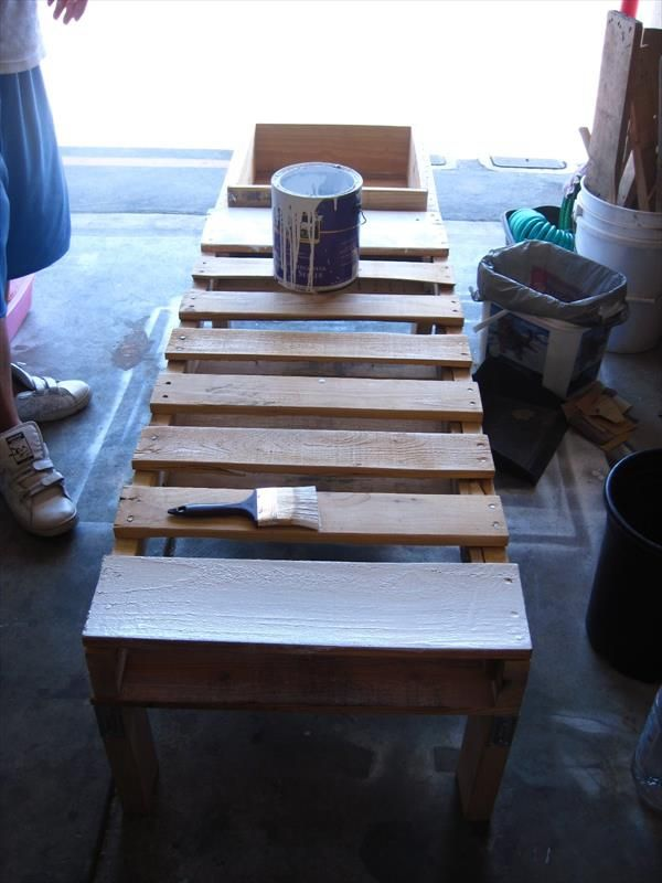 Diy Pallet Bench Instructions With Planter Box Pinterest Pallet