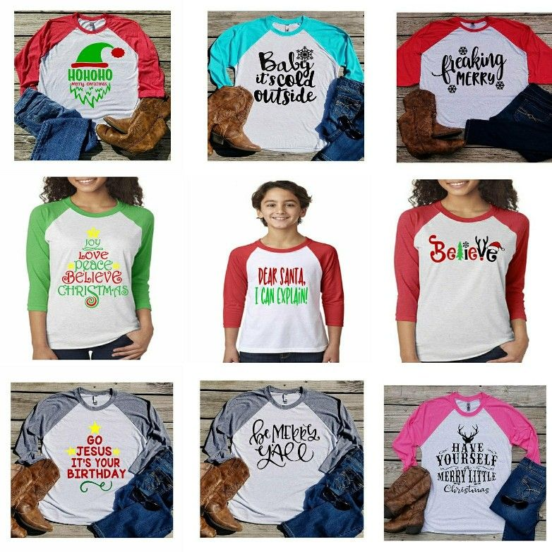 Christmas Shirts Custom Orders Next Level Raglan Youth And Adult Unisex Sizes Christmas Shirts T Shirts For Women Dear Santa