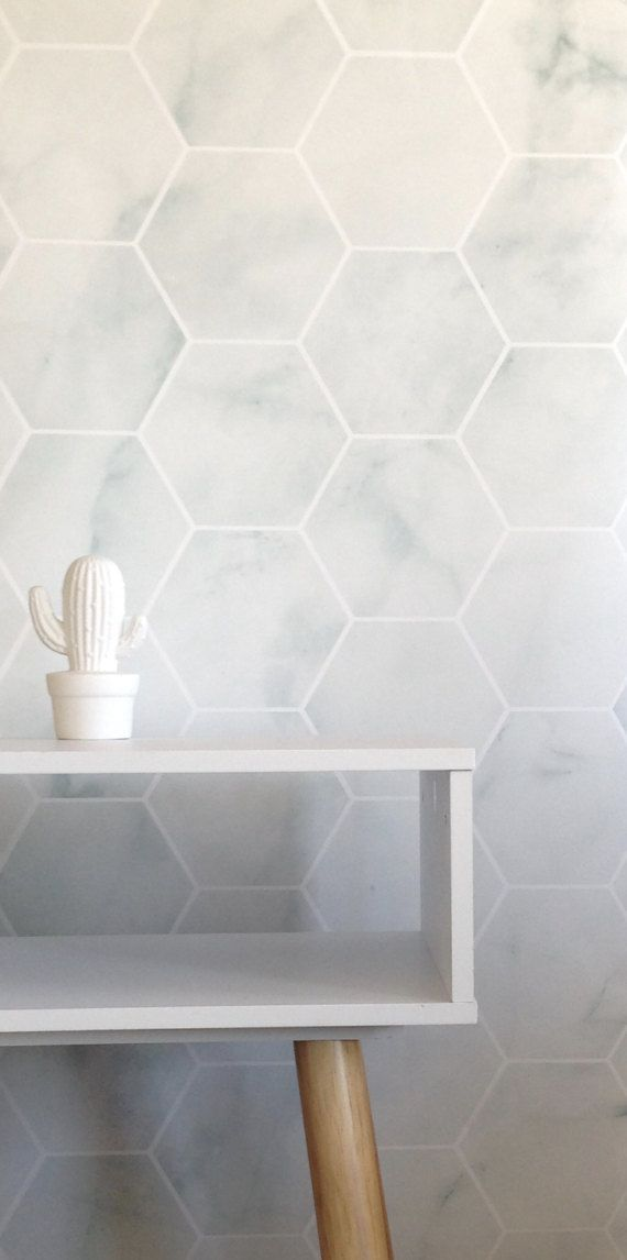 Peel-and-Stick Removable Wallpaper Mod Geo Triangles Gold White Neutral