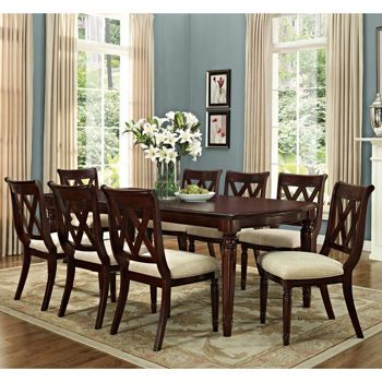 Montreat 9Piece Dining Set Features Table And 8 Dining Chairs Best 9 Pc Dining Room Sets Inspiration Design