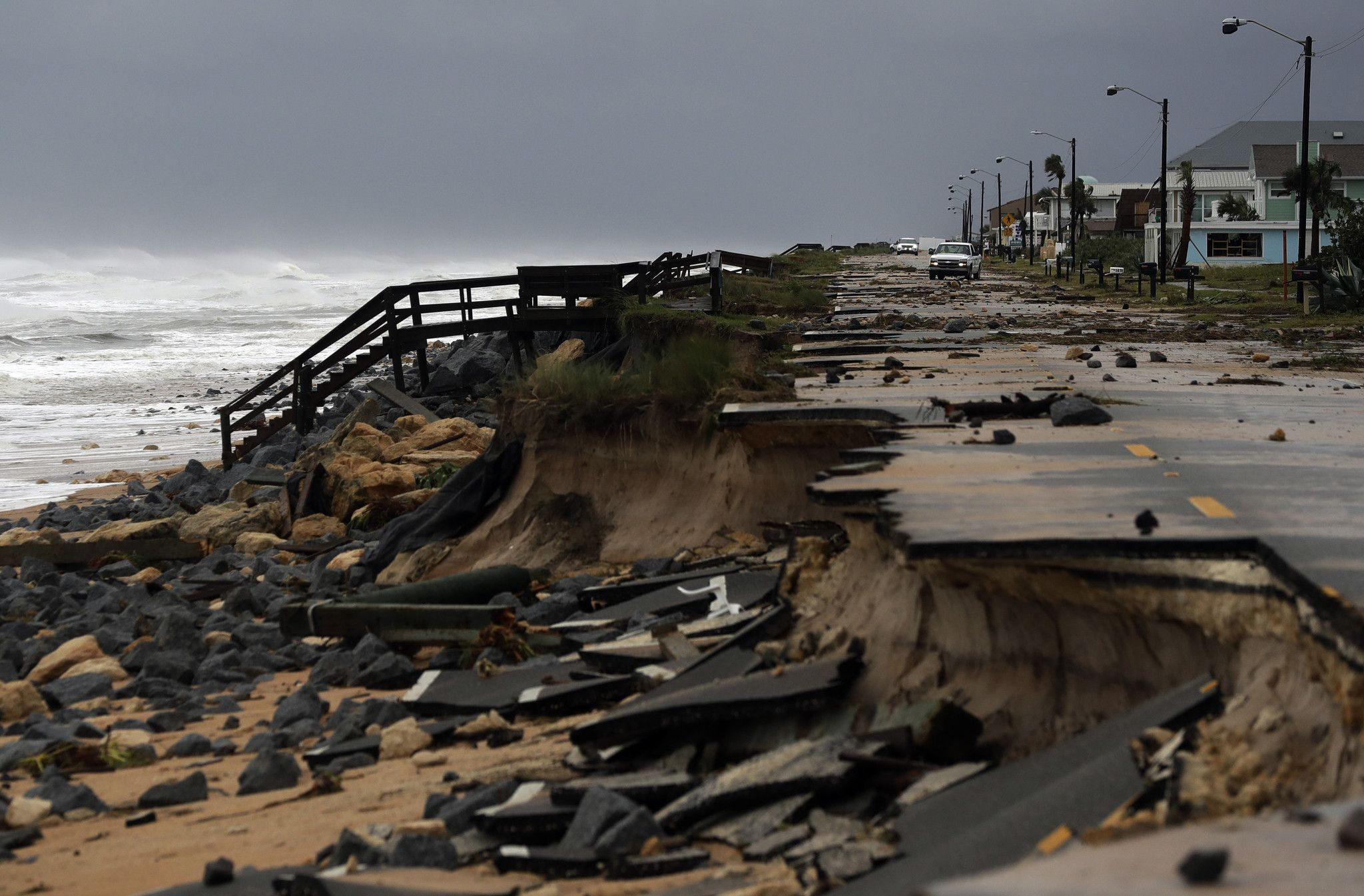 Florida State Road A1a In Flagler Beach Destroyed By Hurricane Matthew 2048 X 1345