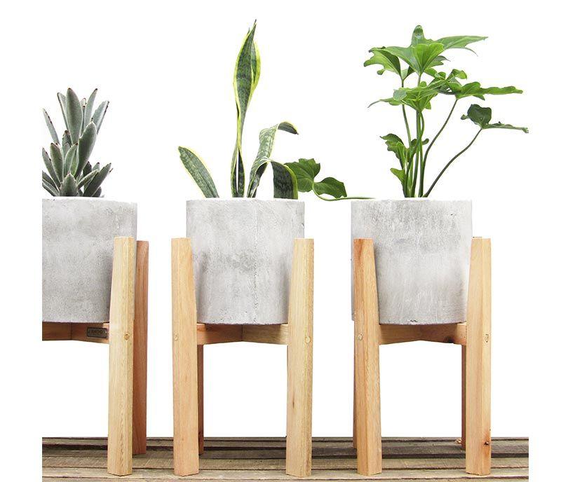 pie y maceta grande cemento - desli | design your life … | pinteres…