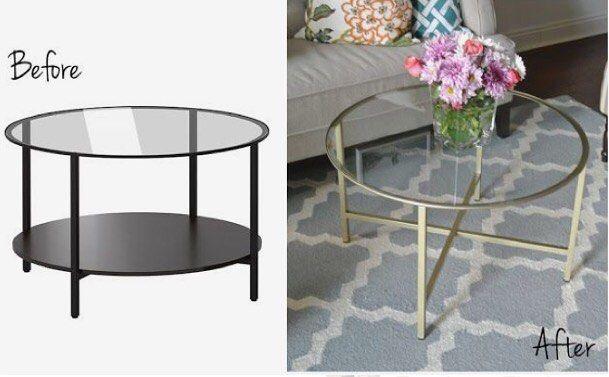 "🔓 IKEA Hacks Do It Yourself on Instagram: ""Vittsjö table hack - easy and pretty ⭐️…"""