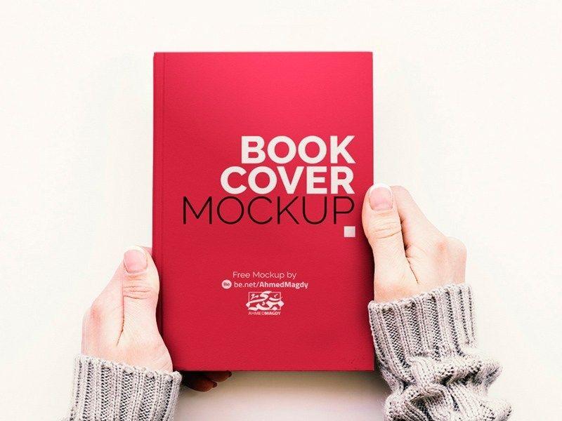 Free Hand Holding Book Cover Mockup Creative Sofa Book Cover Mockup Free Book Cover Mockup Free Mockup Book