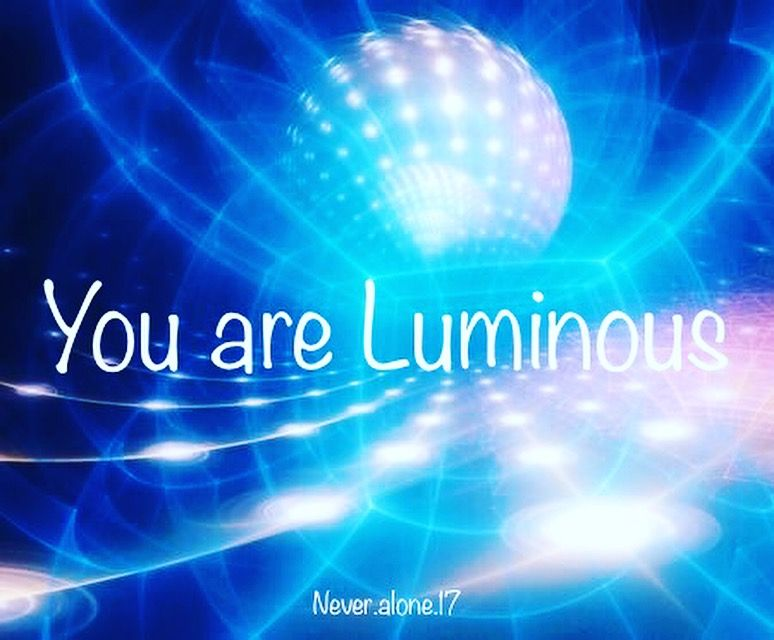 Yes, you are. . Never.alone.17 / Never_alone_insta#luminous #beautifullight #shinebright #keeponshining #spreadyourlight #oneness #awareness #consciousness #raiseyourvibration #love #light #shine #share #namaste