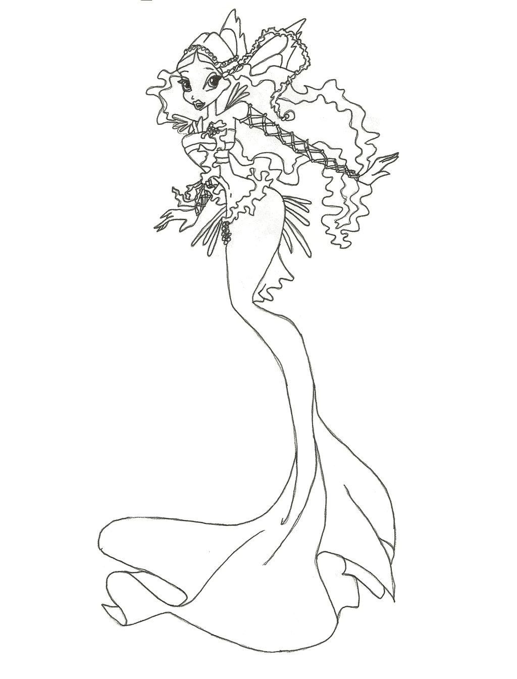Mermaid Coloring Mermaid Coloring Book Mermaid Coloring Pages [ 1344 x 1024 Pixel ]