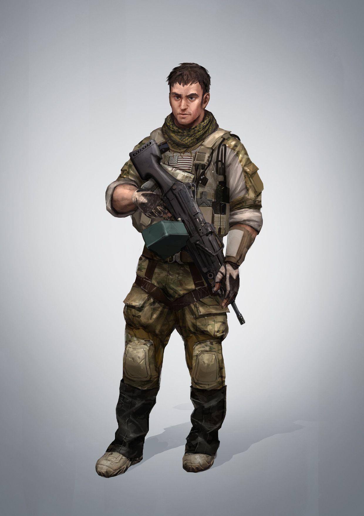ArtStation Characters Design 1, Bagus Hutomo Military