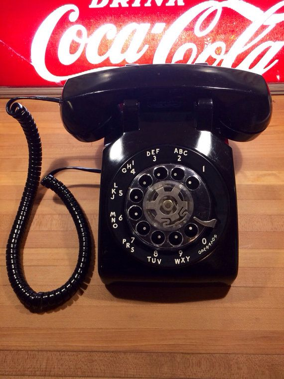 Vintage Black Bell Systems Rotary Phone