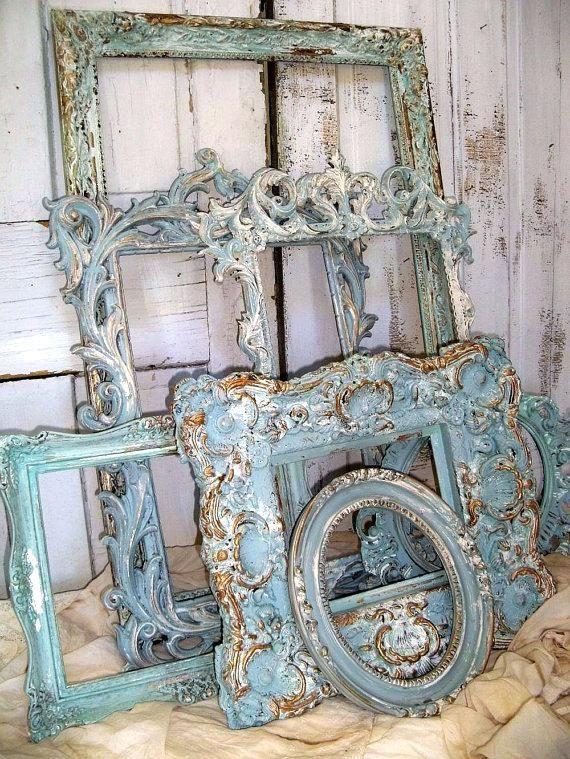 b88b36533fa Large Vintage Frames Uk Large Vintage Frames Australia Large Old Picture  Frames For Sale French Blue Ornate Large Frame Grouping By Anitasperodesign