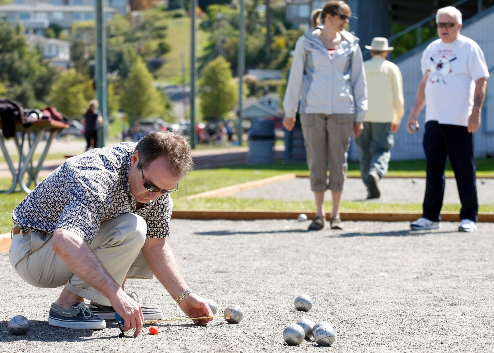 Ever heard of petanque? It's an outdoor game played in France, but you can give it a try in Edmonds.