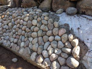 runda stenar trädgård