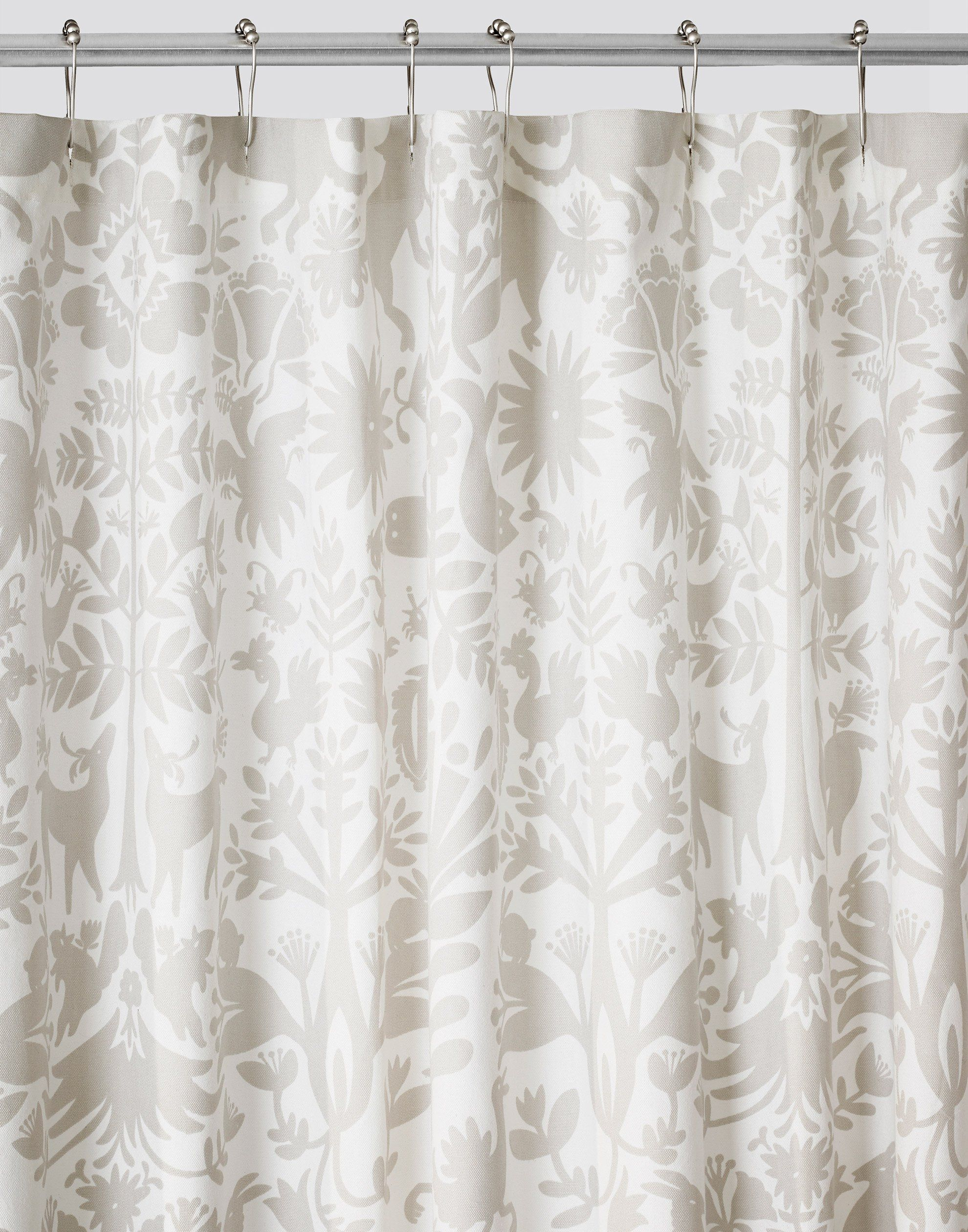 Otomi Pewter Shower Curtain Default Title Silver Shower