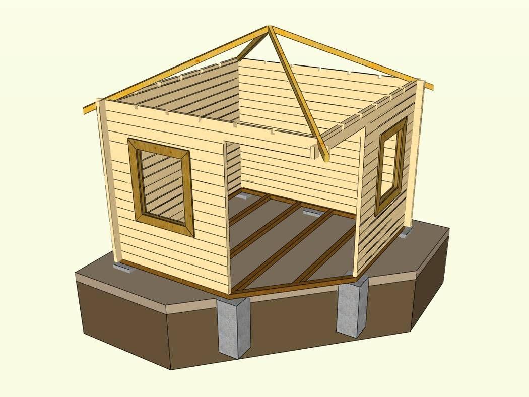 Gartenhaus selber bauen aus Blockbohlen vollständiger
