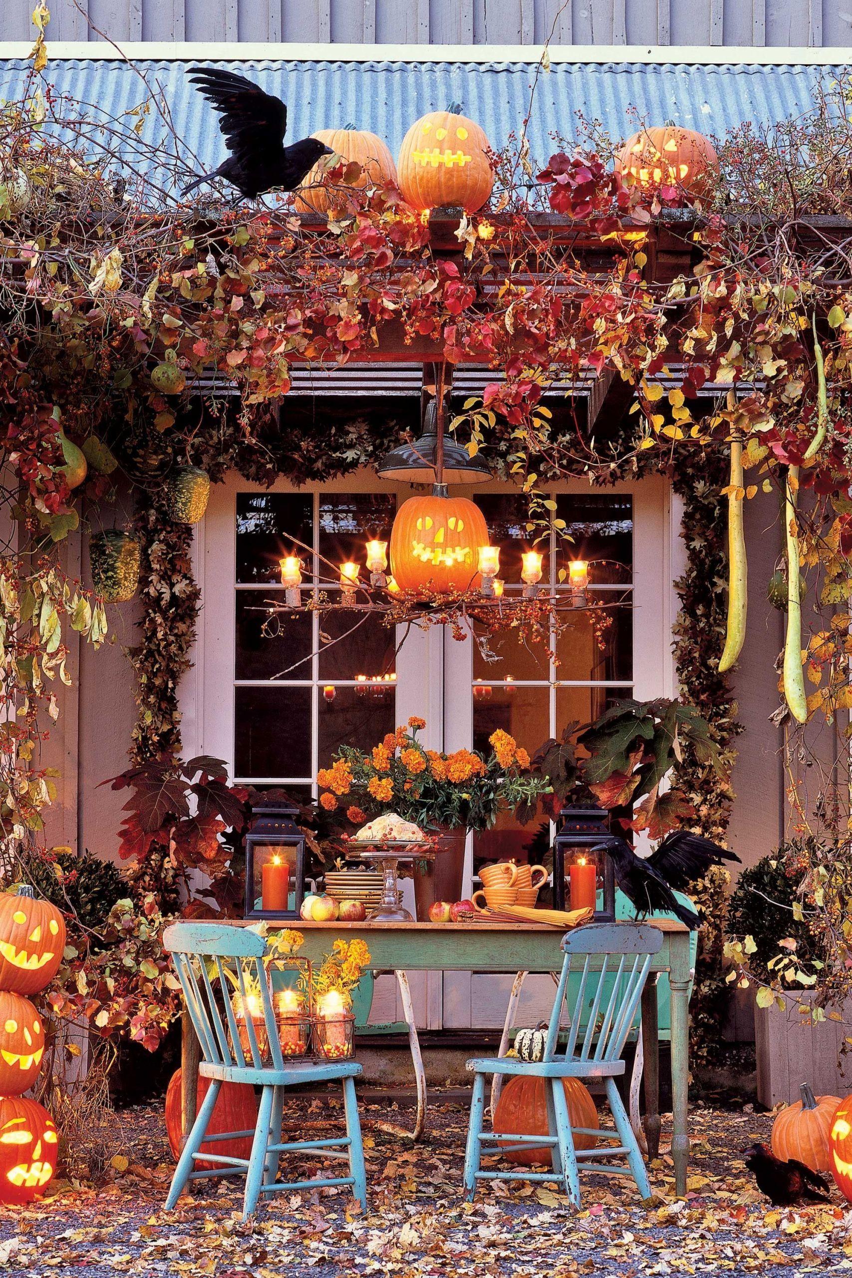 55 Best Outdoor Halloween Decorations To Spellbind Every Fall Front Door Decorations For Halloween D Front Door Fall Decor Halloween Diy Outdoor Fall Decor Diy