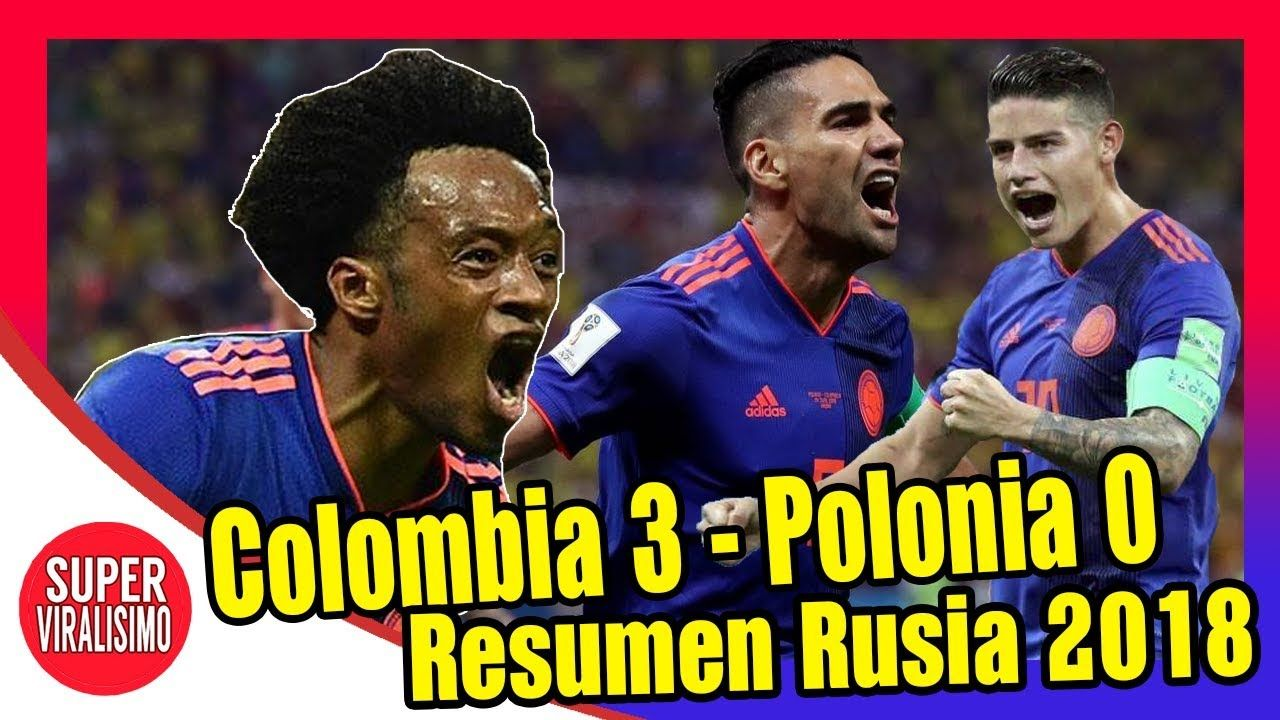 COLOMBIA 3 POLONIA 0 resumen del partido Copa Mundial