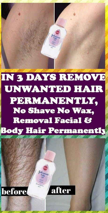 REMOVE UNWANTED HAIR PERMANENTLY IN THREE DAYS, NO