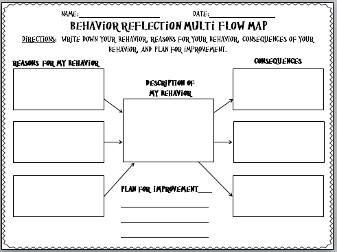 Download These  Templates For Reflecting On Behavior Great For