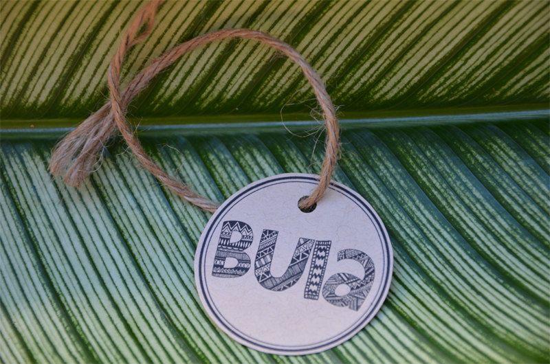 Bula Fiji Wedding Favour Tags by WanderlustWeddings on Etsy, $5.00
