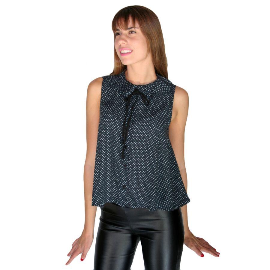 db6192069035 ATTRATTIVO Γυναικείο αμάνικο πουά πουκάμισο
